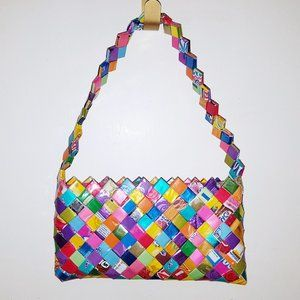 Handbags - Metallic Recycled Candy Wrapper Purse Handbag Bag